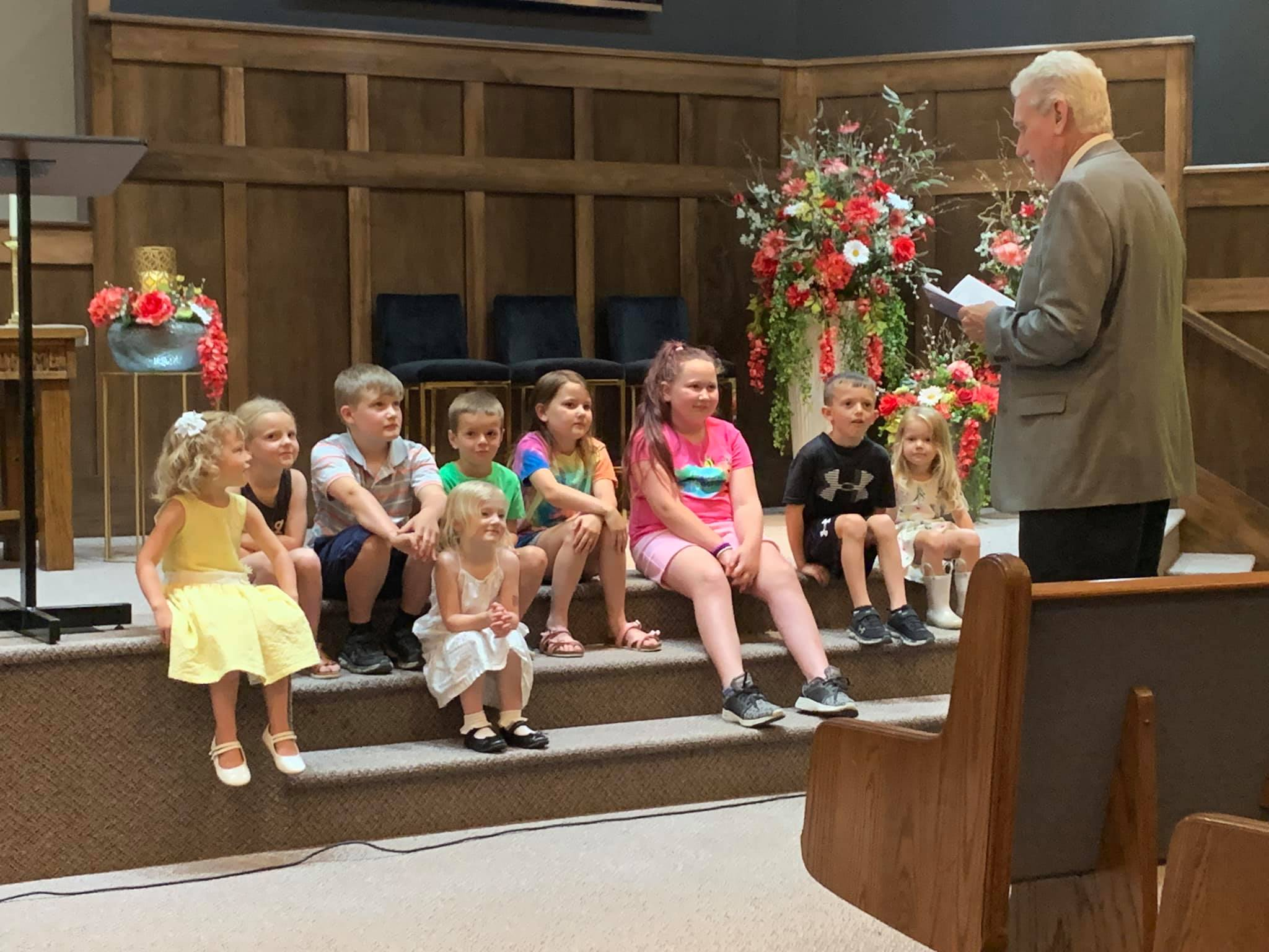 children's church time during service in girard illinois