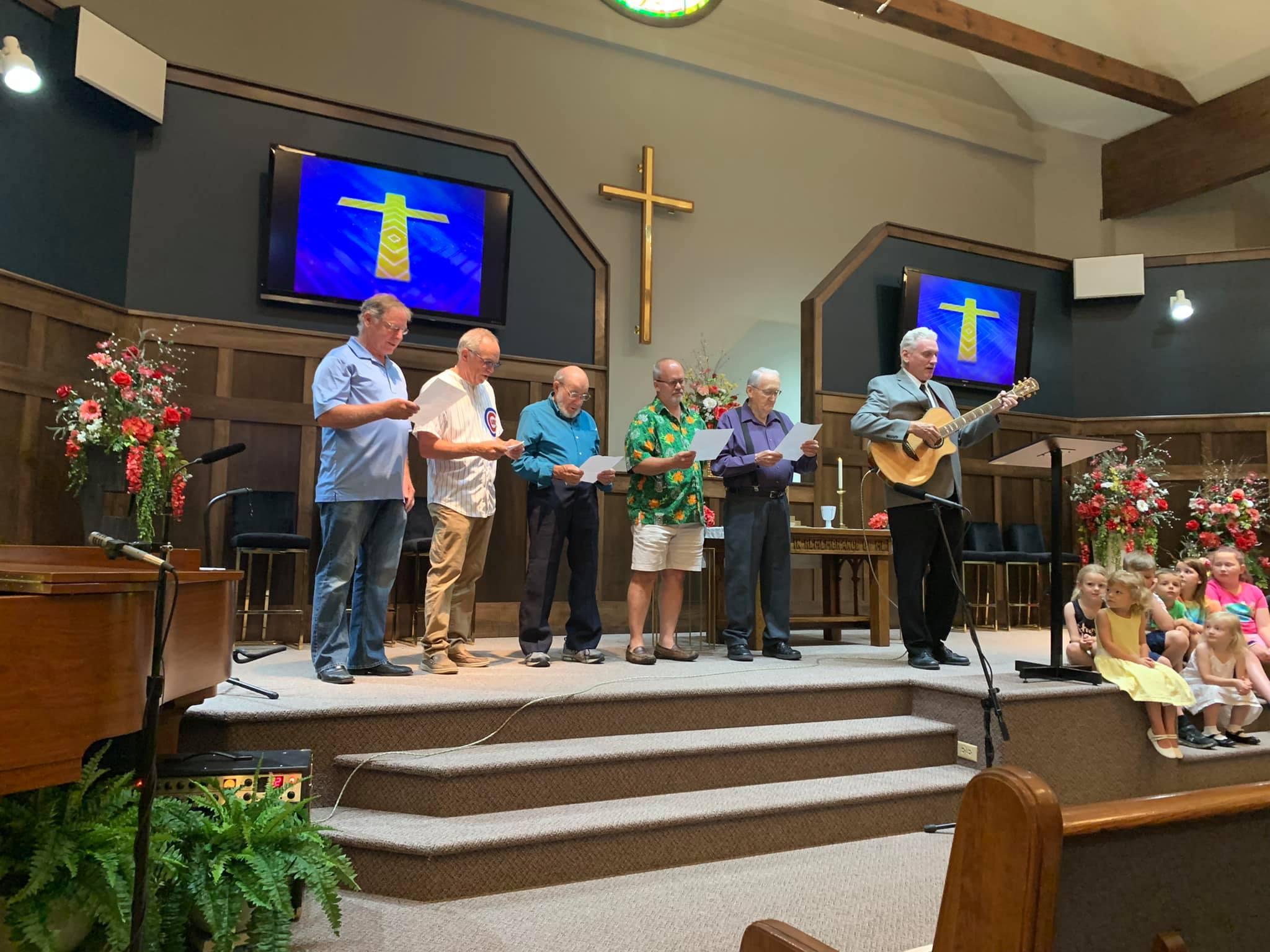 worship music sung in a church on a sunday in girard illinois